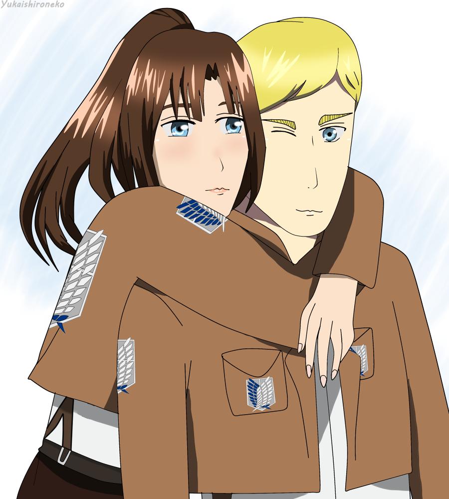 Hugging you [Art trade] by Yukaishironeko