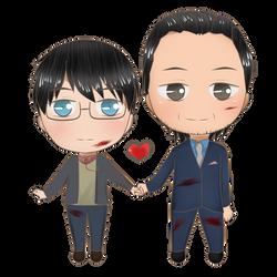 Ych couple ~ Kennuyo by Yukaishironeko