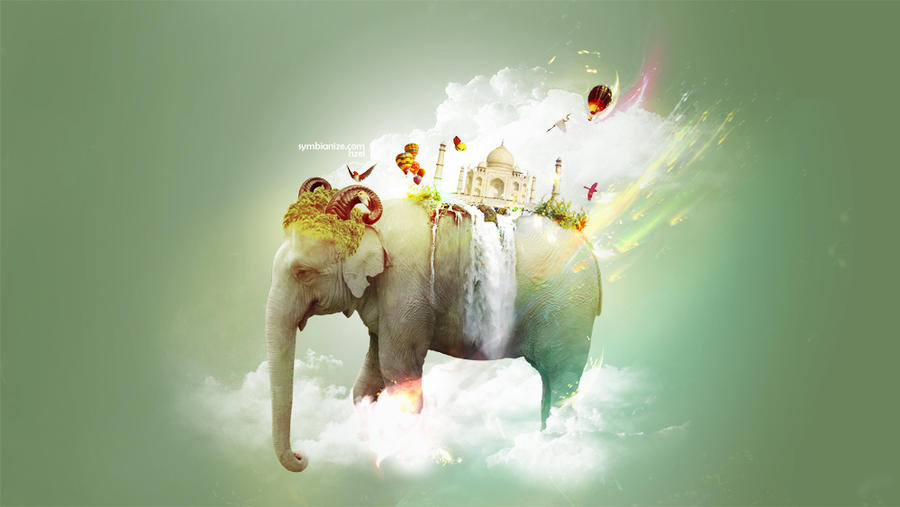 sky elephant by hzelxnyerki