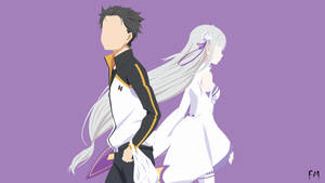 Subaru And Emilia (Re:Zero) by FikriMochizou