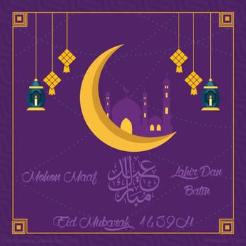 Happy Eid Mubarak 1439H by FikriMochizou