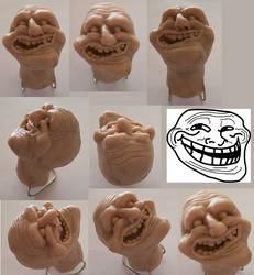 Troll Face Sculpture by elektrolikit