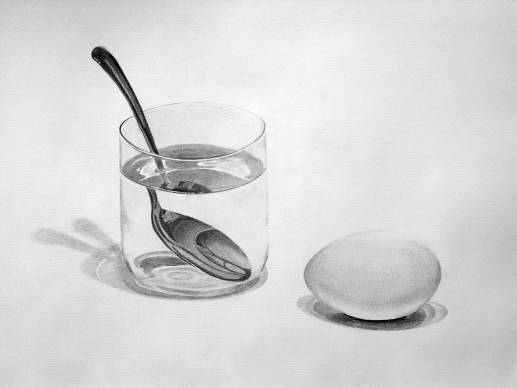 All Worksheets still life drawing worksheets : Egg, Glass and Spoon by einai on DeviantArt