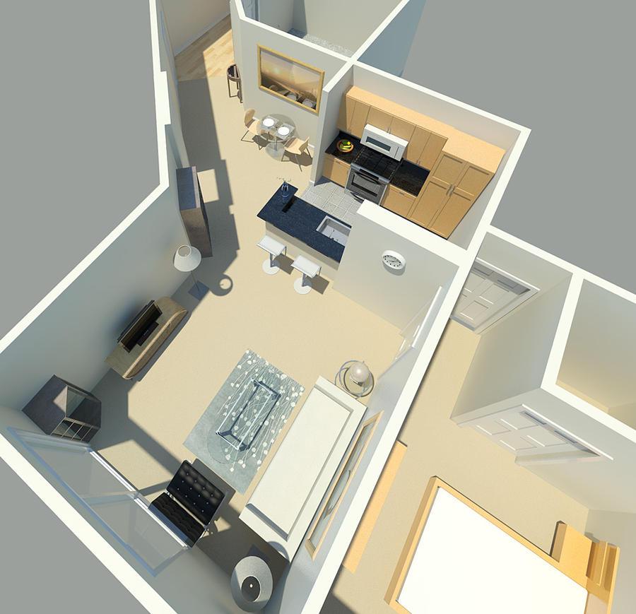 Revit rendering of interior by einai on deviantart for Interior design rendered images