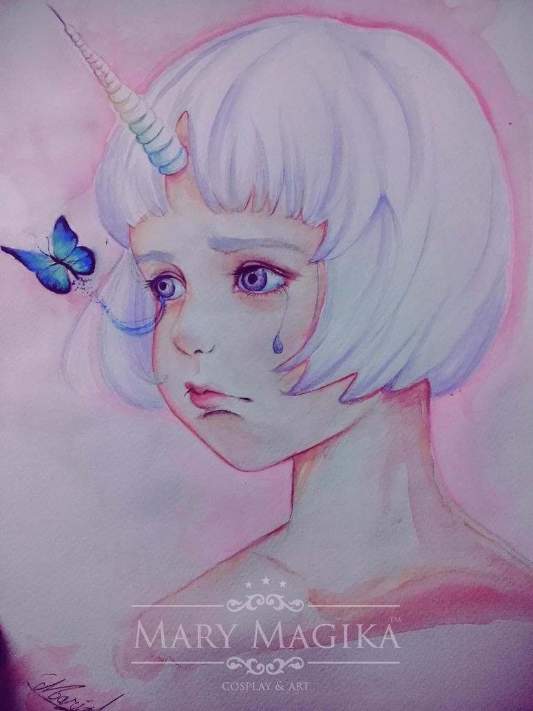 Unicorn Girl by MaryMagika