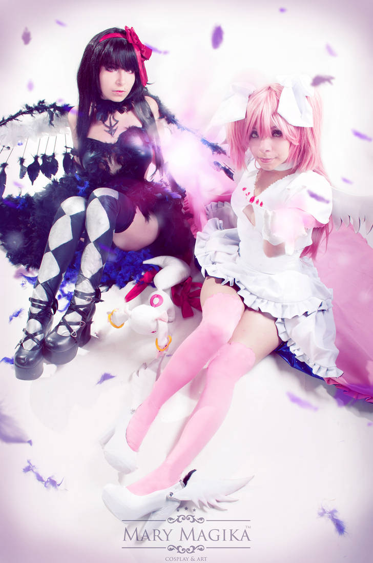 Madoka and Homura by MaryMagika