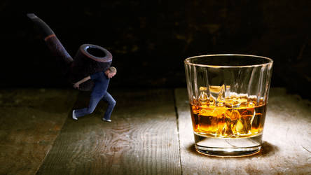 A scotch on the rocks and a pipe by travelnboi
