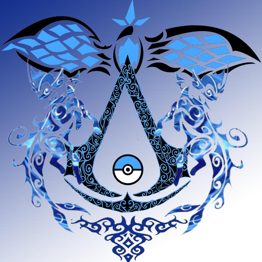 Vaporeon Pkmn Assassin creed 2 Logo by ZoruaChan1