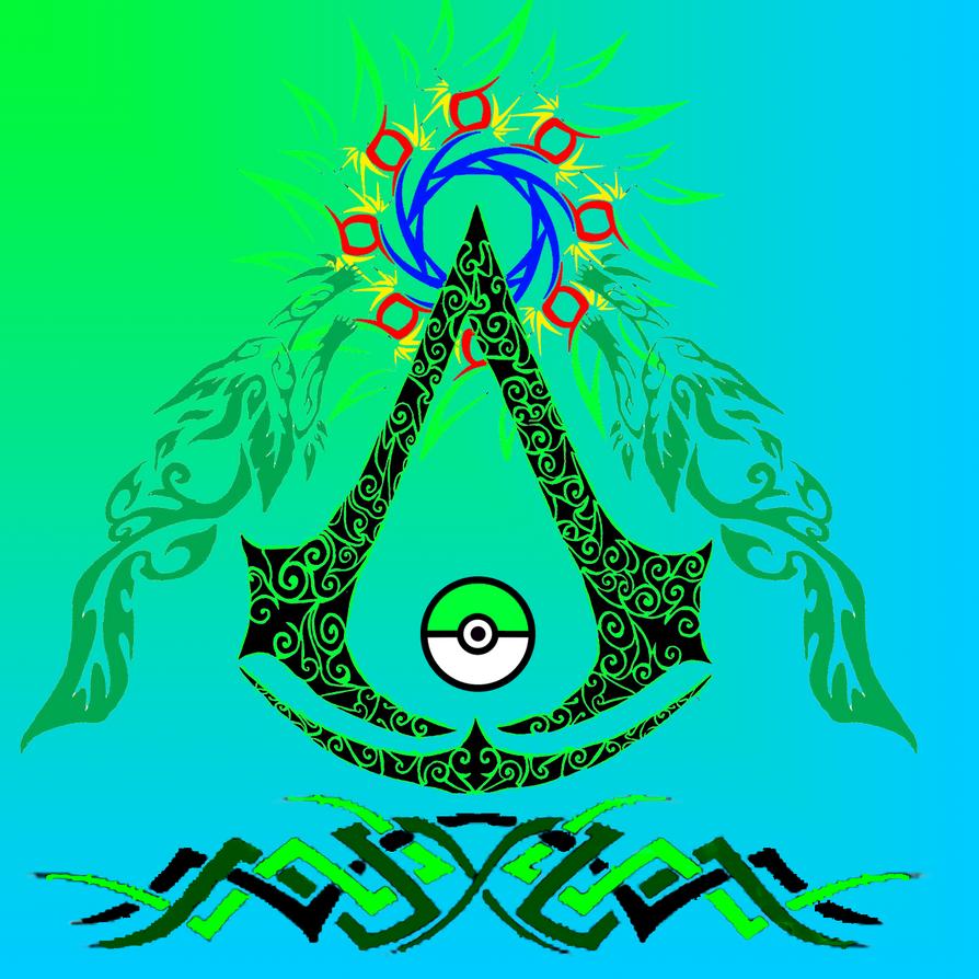 Leafeon Pkmn Assassin creed 2 Logo by ZoruaChan1