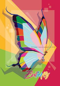 Butterfly in Pop Art