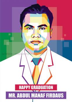 Commision Work Pop Art Mr. Abdul Manaf Firdaus