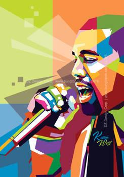 Kanye West in Pop Art Portrait
