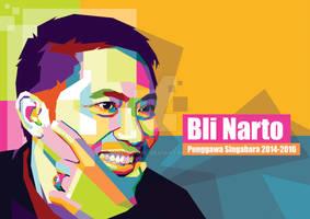 Commission Work Bli Narto in Pop Art Portrait