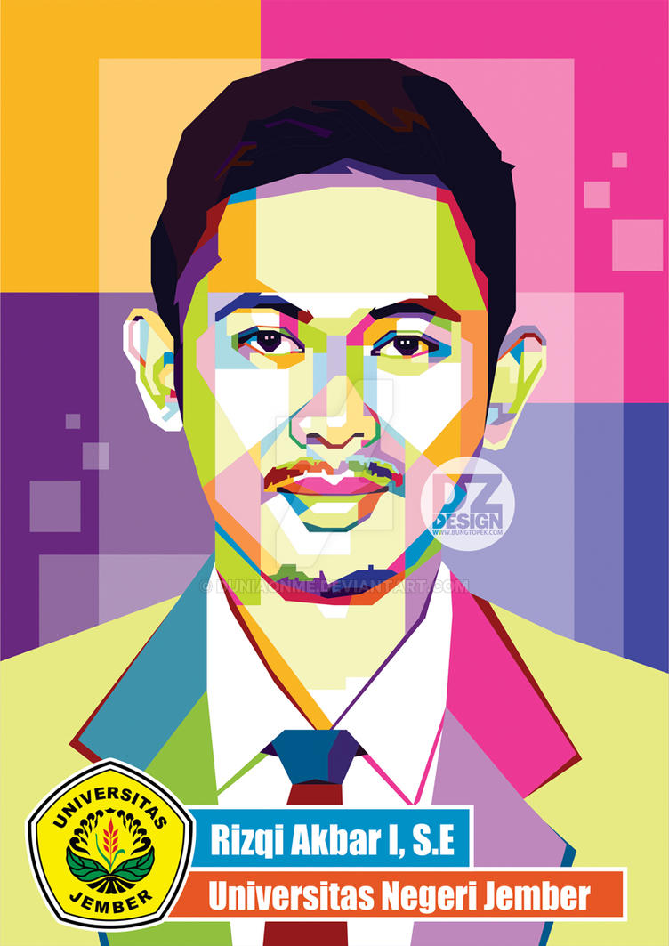 Commission Artwork Rizqi Akbar in Pop Art Portrait by duniaonme