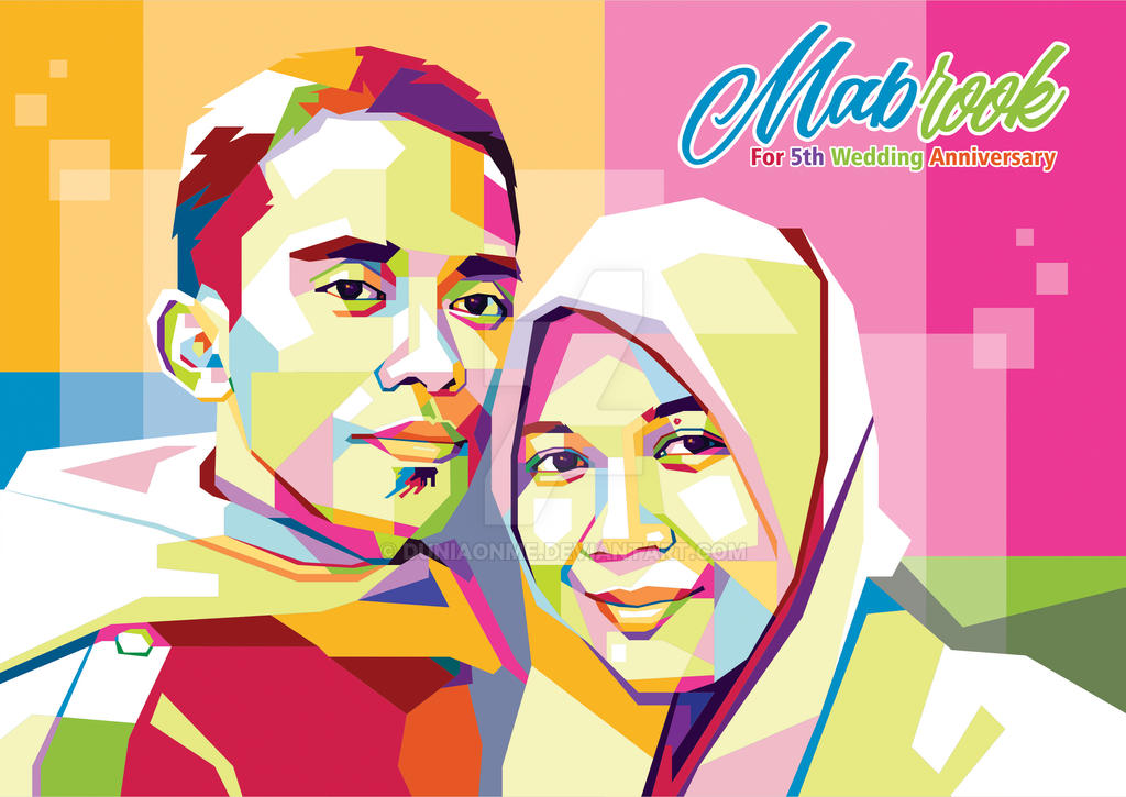 Commission Work Couple Pop Art Portrait by duniaonme