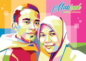 Commission Work Couple Pop Art Portrait