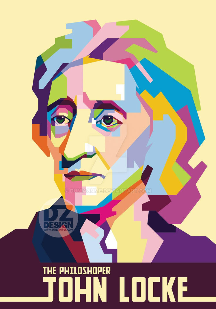 John Locke in Pop Art Portrait by duniaonme