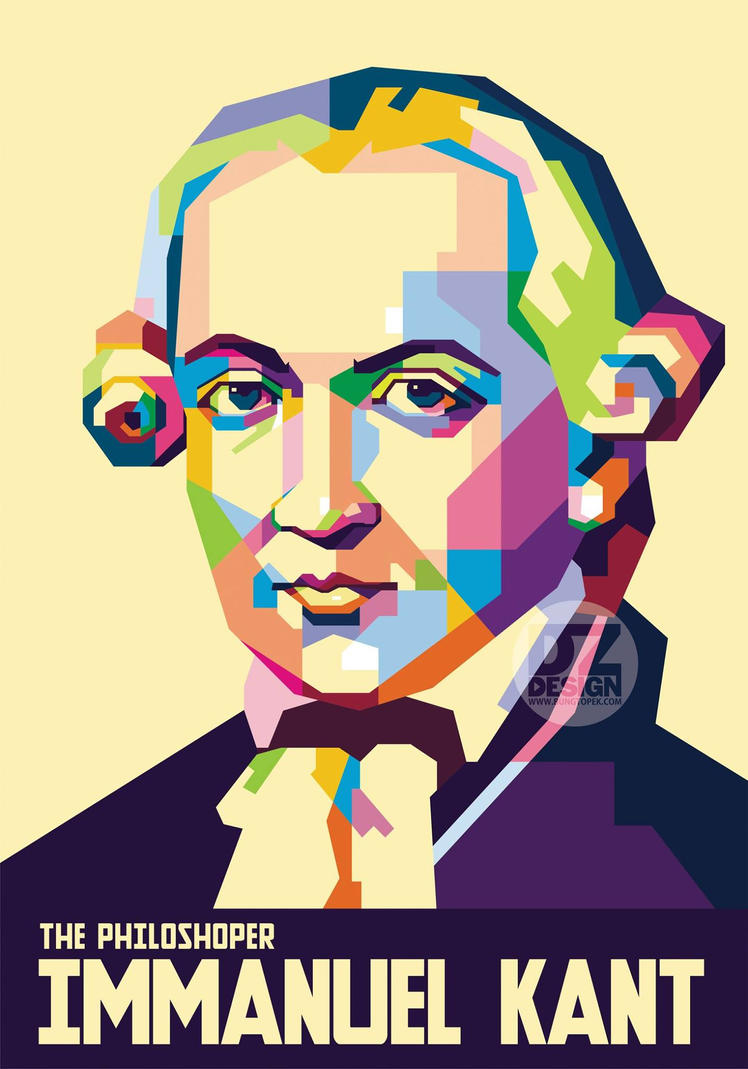 Immanuel Kant in Pop Art Portrait by duniaonme