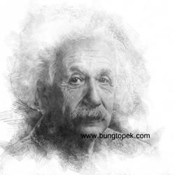 Digital Sketch Albert Einstein