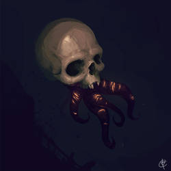 Skull Tentacles by Hevion