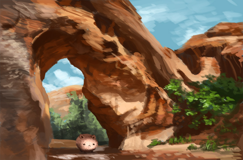 Random canyon and fatcat. by Jeffufu