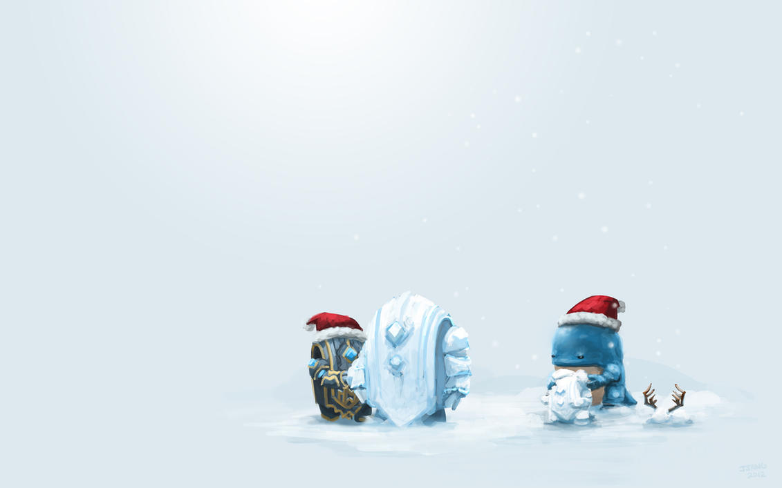 Guild Wars 2 Fanart - Quaggan not too good at snow by Jeffufu