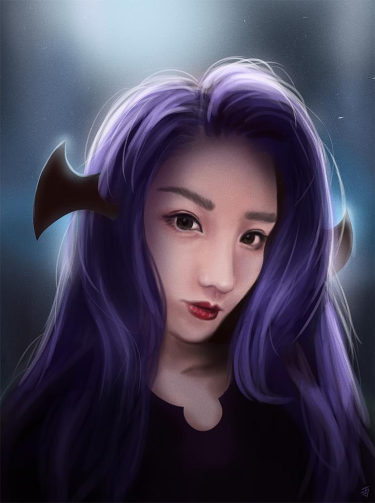 Purple Wings by Jeffufu
