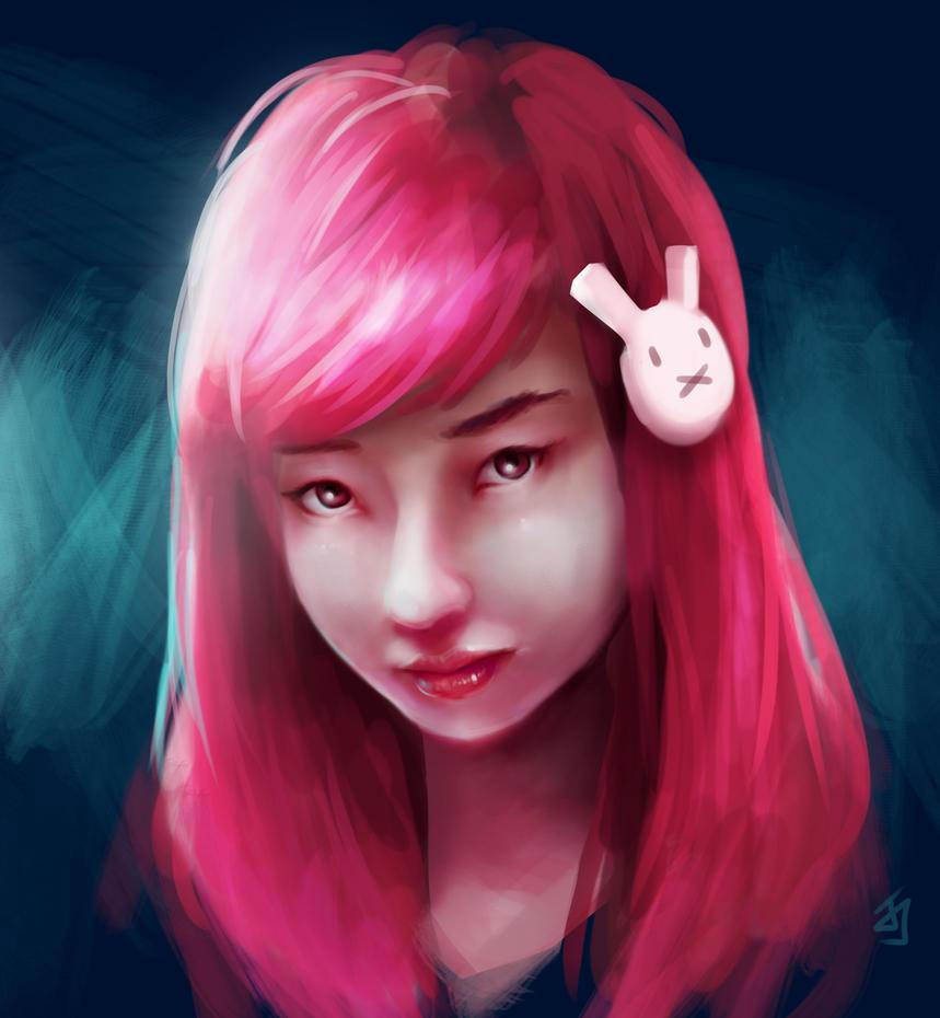 Pink Rabbit by Jeffufu