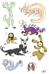 Adoptable Saturdays: Mystical Creatures (3/8 OPEN) by NightSmudge