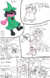 Ralsei Doodles by NightSmudge