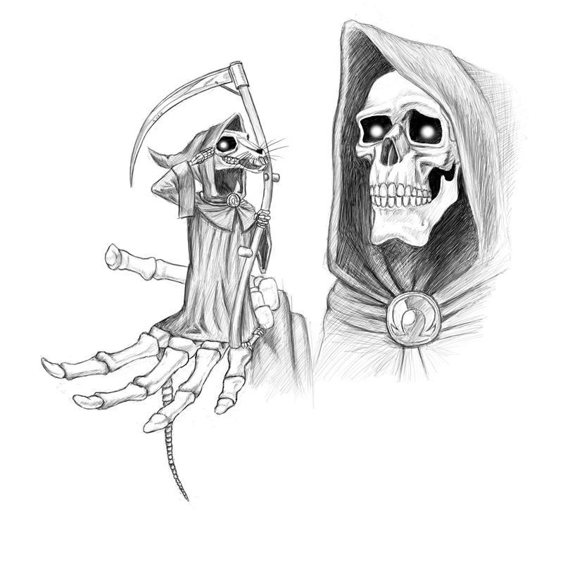 Grim Reaper Sketches Drawings