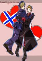 Happy Birthday Norgeeeeee! by PuffinBanshee