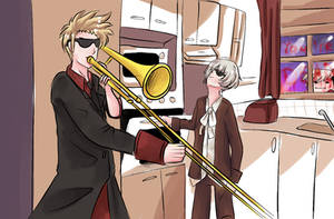 When Norge Isn't Home by PuffinBanshee