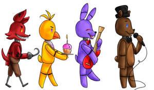 Fnaf Old Animatronics by PuffinBanshee