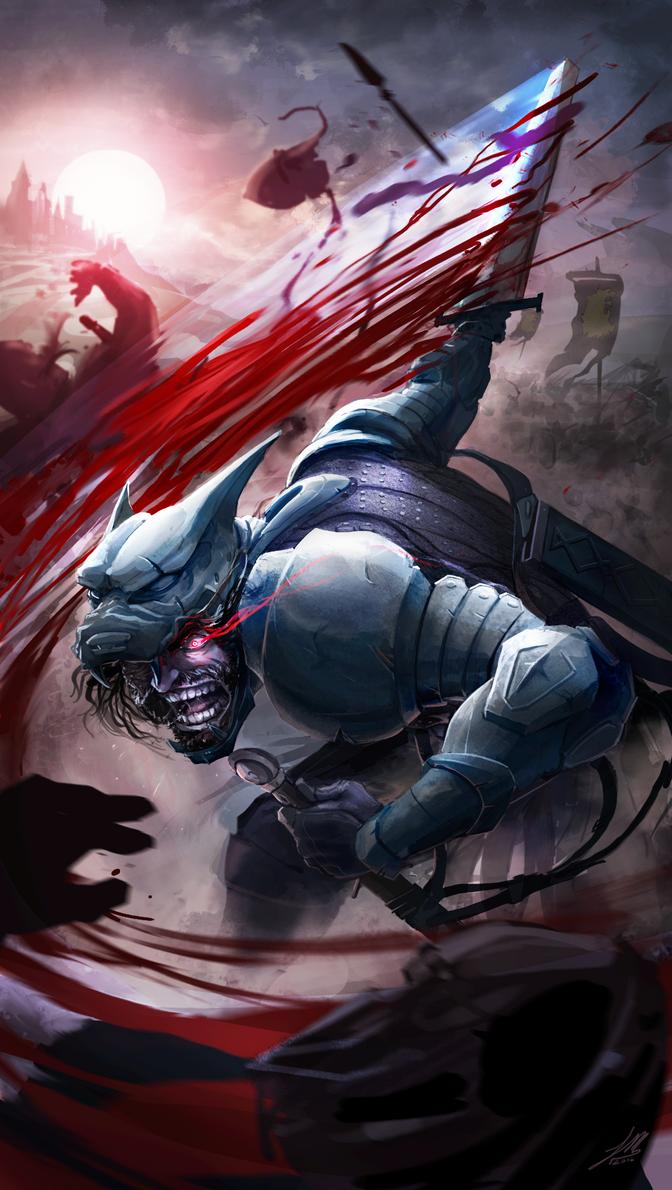 Rage of the Hound by vitrashark