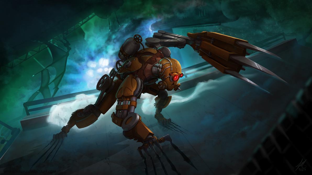 SteamPunkRobot Final by vitrashark