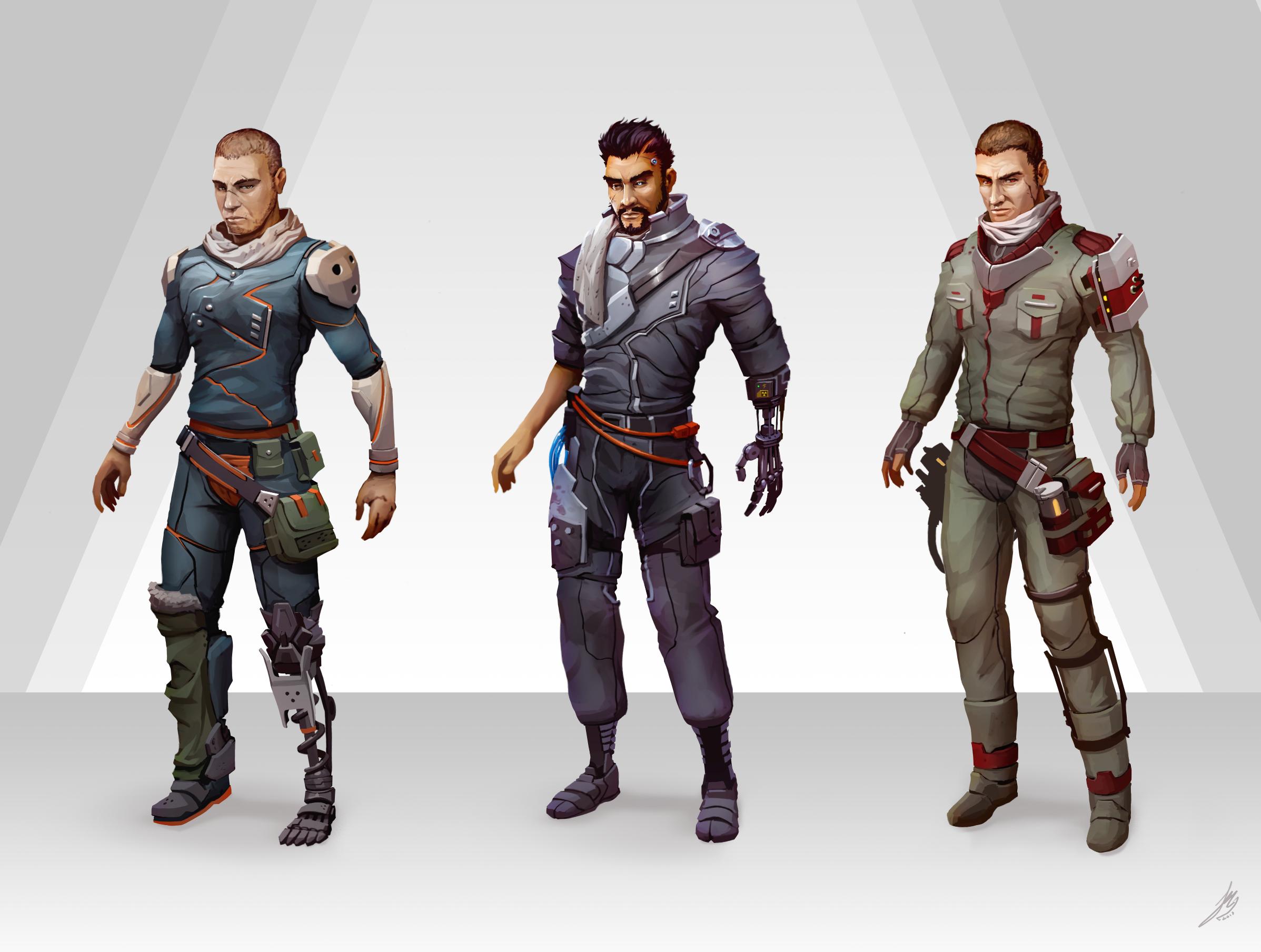 Character Design Set : Character design rendered set by vitrashark on deviantart