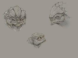 Krogan sketch dump by Megume