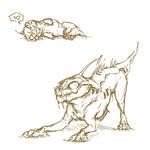 Playful Varren sketch