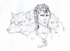 Fen'Harel line art by Megume