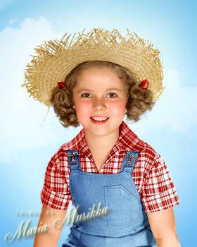 Shirley Temple ~~ 1938 ~~ colourised
