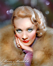 Marlene Dietrich ~~ 1932 ~~ colourised