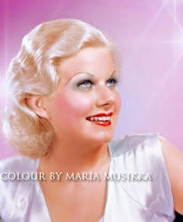 Jean Harlow ~~ 1930s ~~ colourised by Maria-Musikka