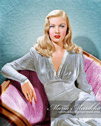 Veronica Lake ~~ 1942 ~~ colourised by Maria-Musikka