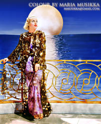 Carole Lombard ~~1935~~ colourised by Maria-Musikka