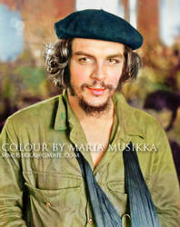 Che Guevara ~~1950s~~ colourised by Maria-Musikka