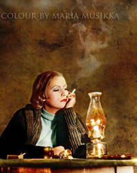 Greta Garbo ~~1930~~ colourised by Maria-Musikka