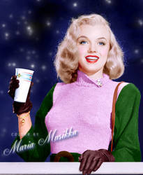 Marilyn Monroe ~~1950~~ colourised by Maria-Musikka