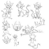 Gargoyle Character Sketches by cyborgparanoia