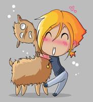 Llama for a Llama... or a hug by tinygoblin